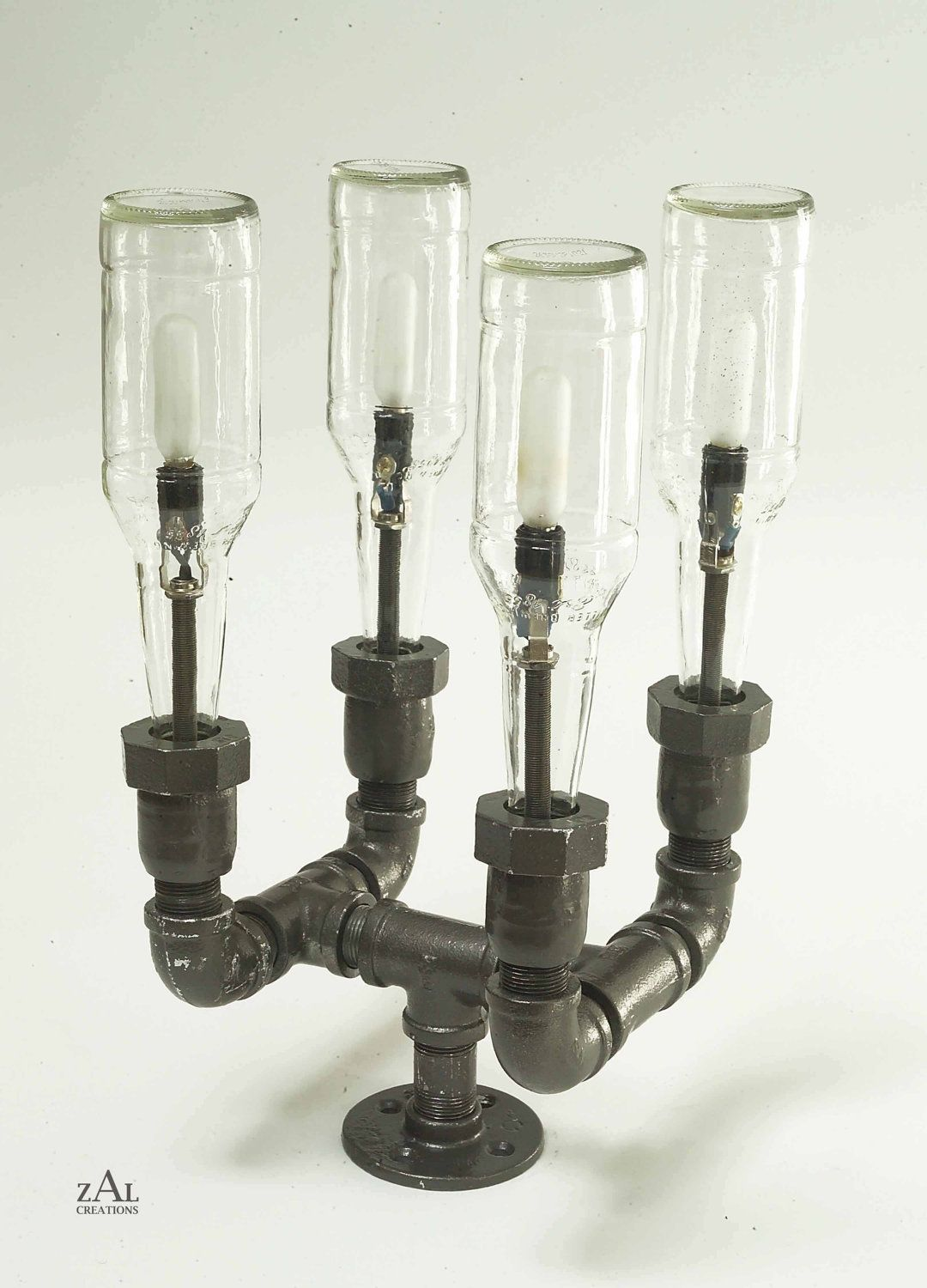 Pipe Light Fixtures Pole Lamp Beer Bottles Plumbing Pipe And Fittings Pole