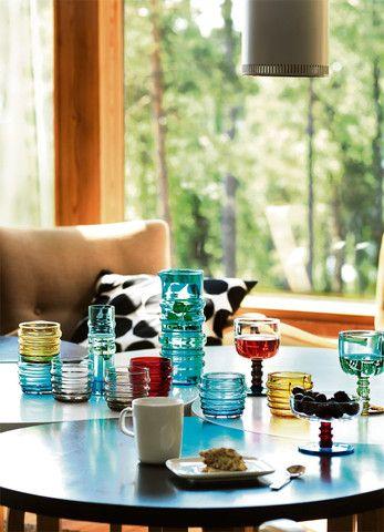 Sukat Makkaralla Glassware, Kiitos Marimekko