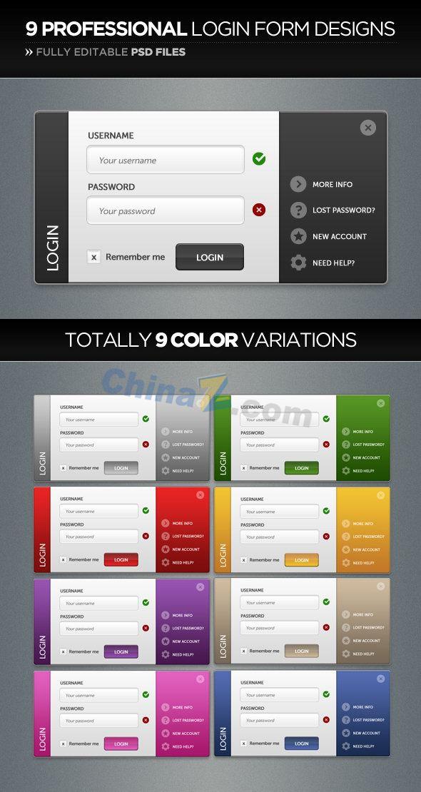 Web site login box PSD material download free   PSD   Pinterest