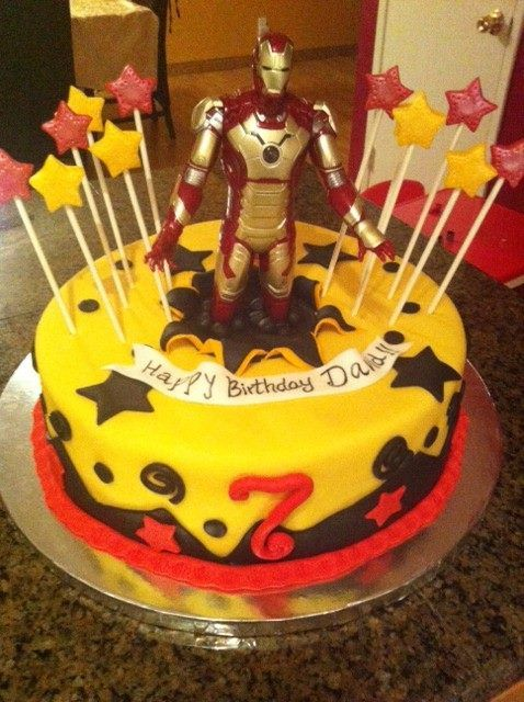 Ironman Cake Ironman Cake Cake Cakes For Boys