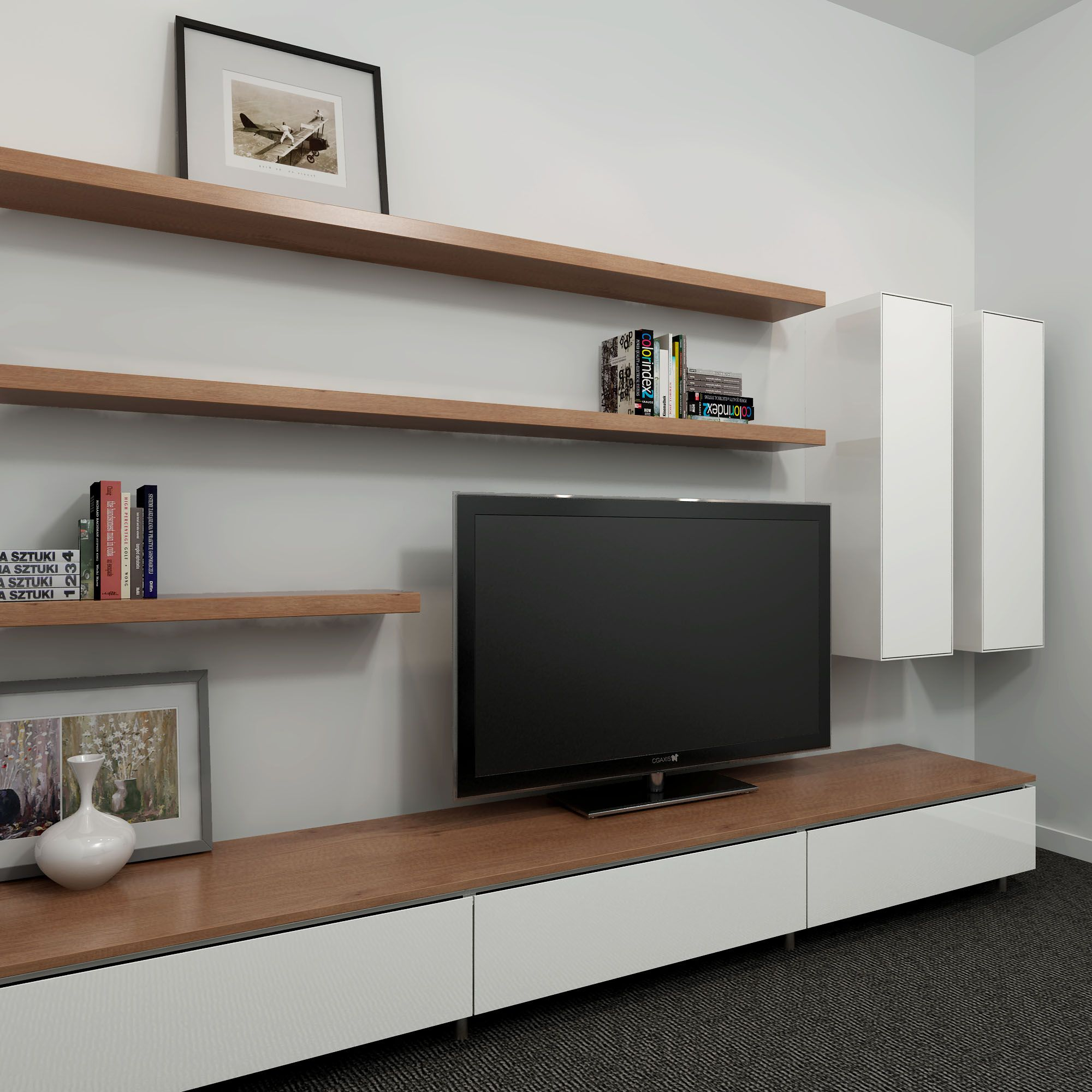 Wall Mounted Entertainment Unit Cleanline Entertainment Unit With A Two Tone Look  Entertainment