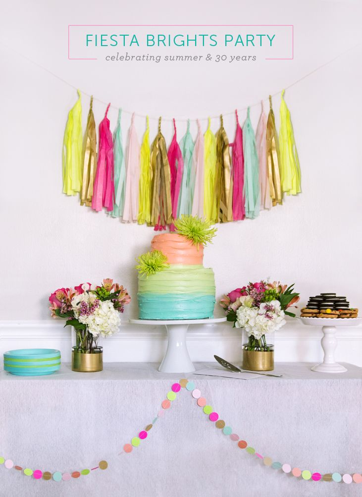 Fiesta Brights party celebrating summer and 30 years Colorful