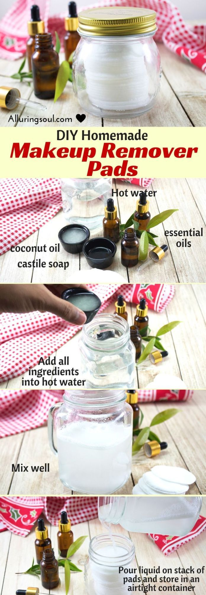 Natural & DIY Skin Care DIY makeup remover will help to