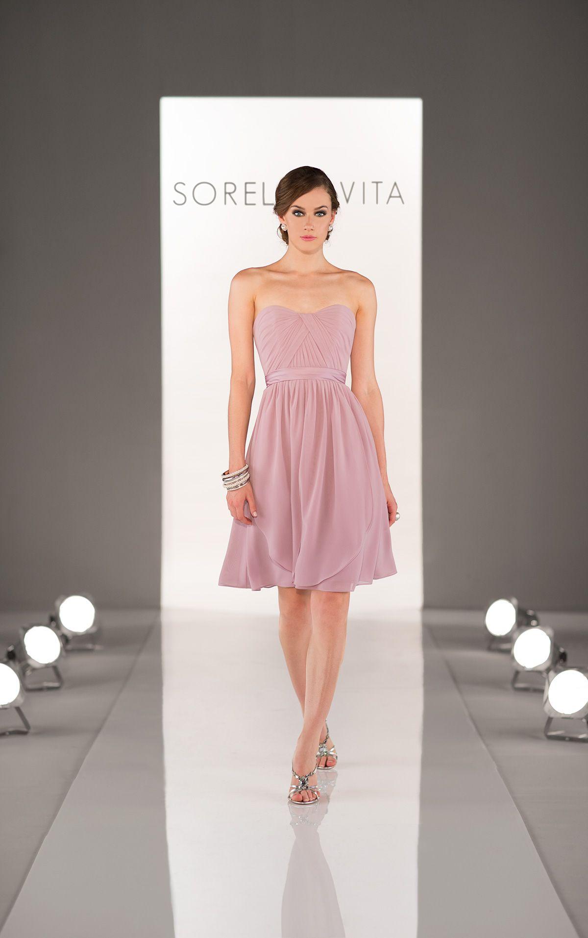 Peach Bridesmaid Dress by Sorella Vita