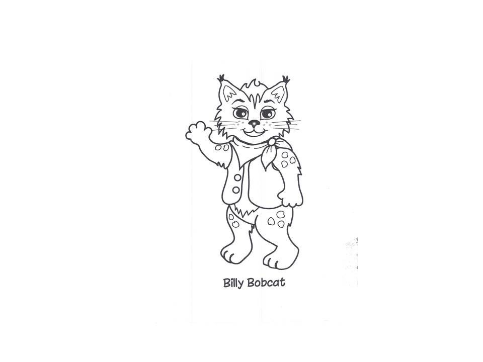 Billy Bobcat Coloring Page\