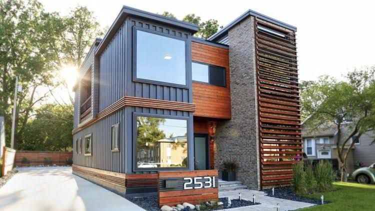 Wohnhaus Aus Containern stylish shipping container home attracts tons of attention realtor