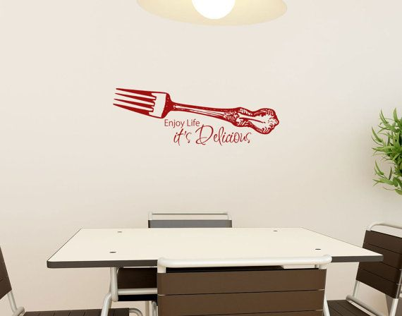 Kitchen Wall Decal Enjoy Life Its Delicious With By HouseHoldWords