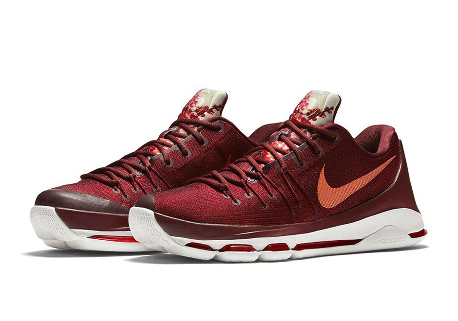 Typically drawing inspiration from Durant\u0027s upbringing or his time on the  basketball court, the Nike KD 8 ventures further east for its creative fu.