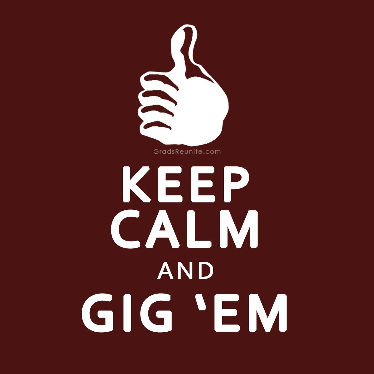Color printing tamu - Texas A M Gig Em Maybe I Will Print This Out As A