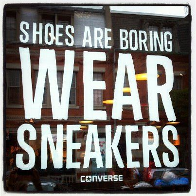 converse shoes slogan