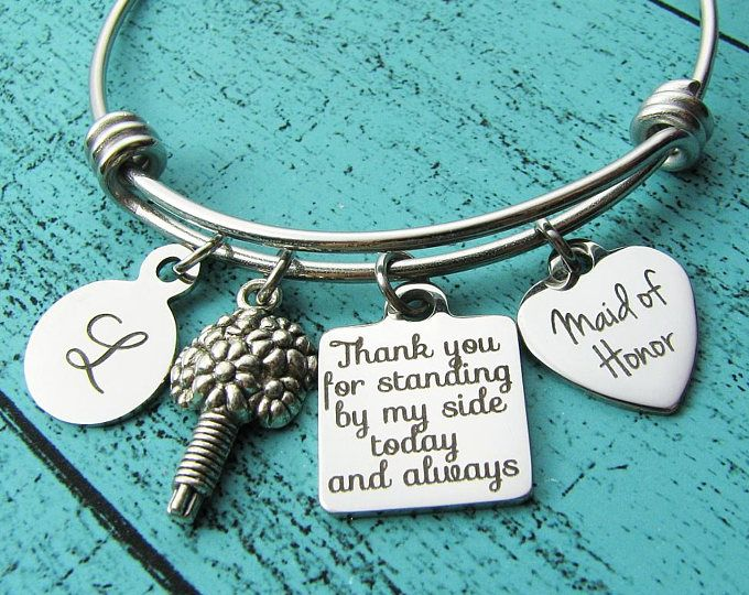 Personalized wedding gifts for maid of honor