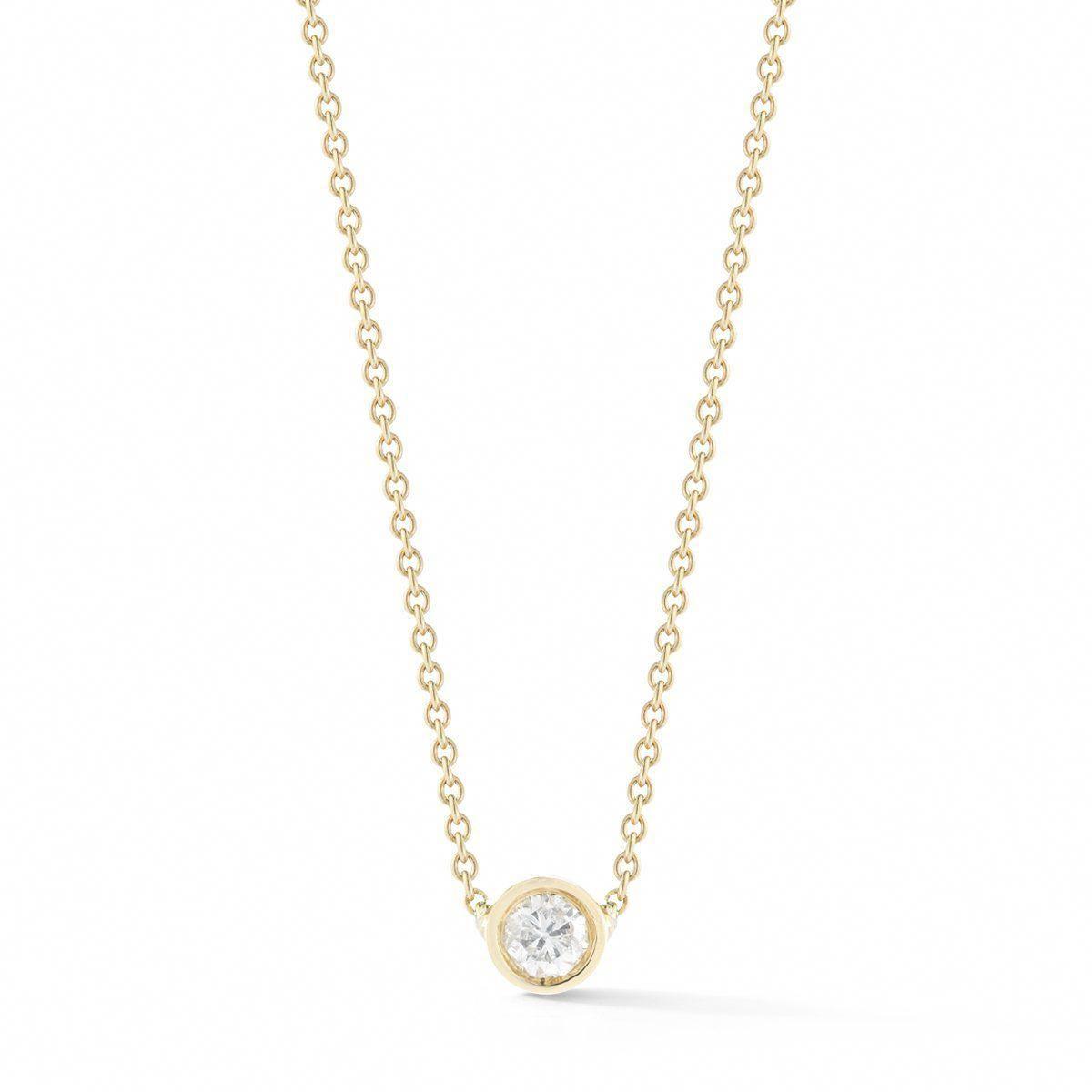 68a482903f4b0e Small Round Diamond Necklace - STONE AND STRAND #diamondnecklaces Initial  Pendant Necklace, Stone Necklace