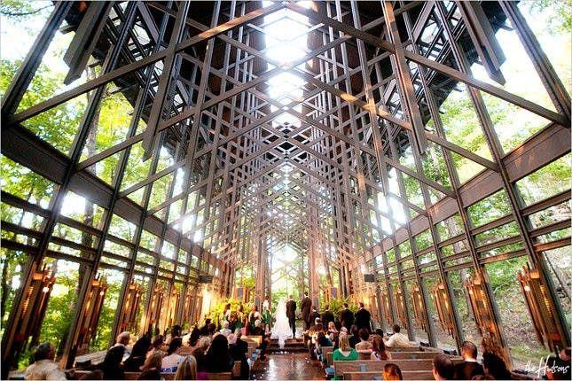 14 Open Air Chapels That Will Rival Jason Mraz S Outdoor Wedding Venue Open Air Chapel Outdoor Wedding Venues Thorncrown Chapel