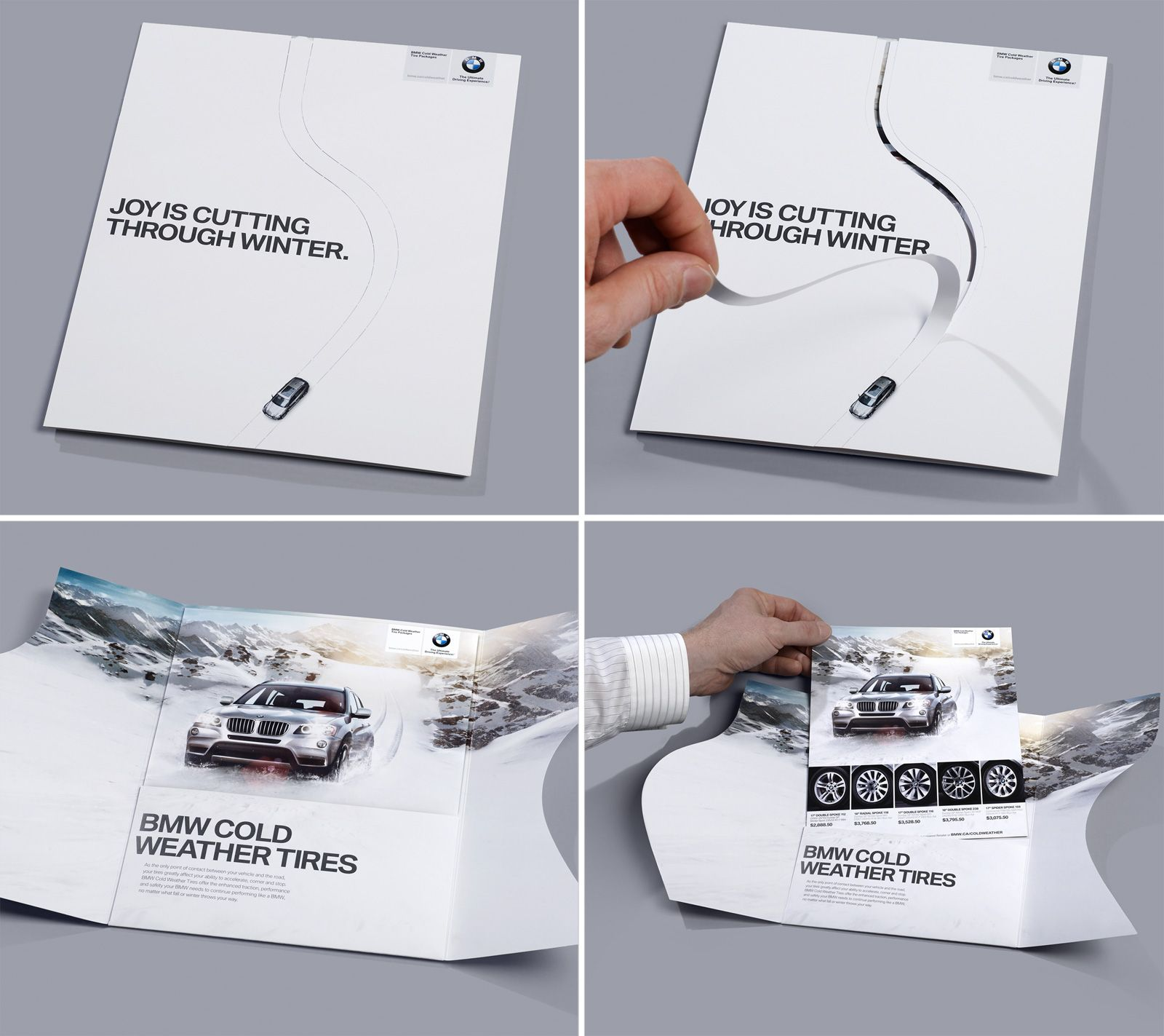 A clever die cut direct mail piece that is sure to grab