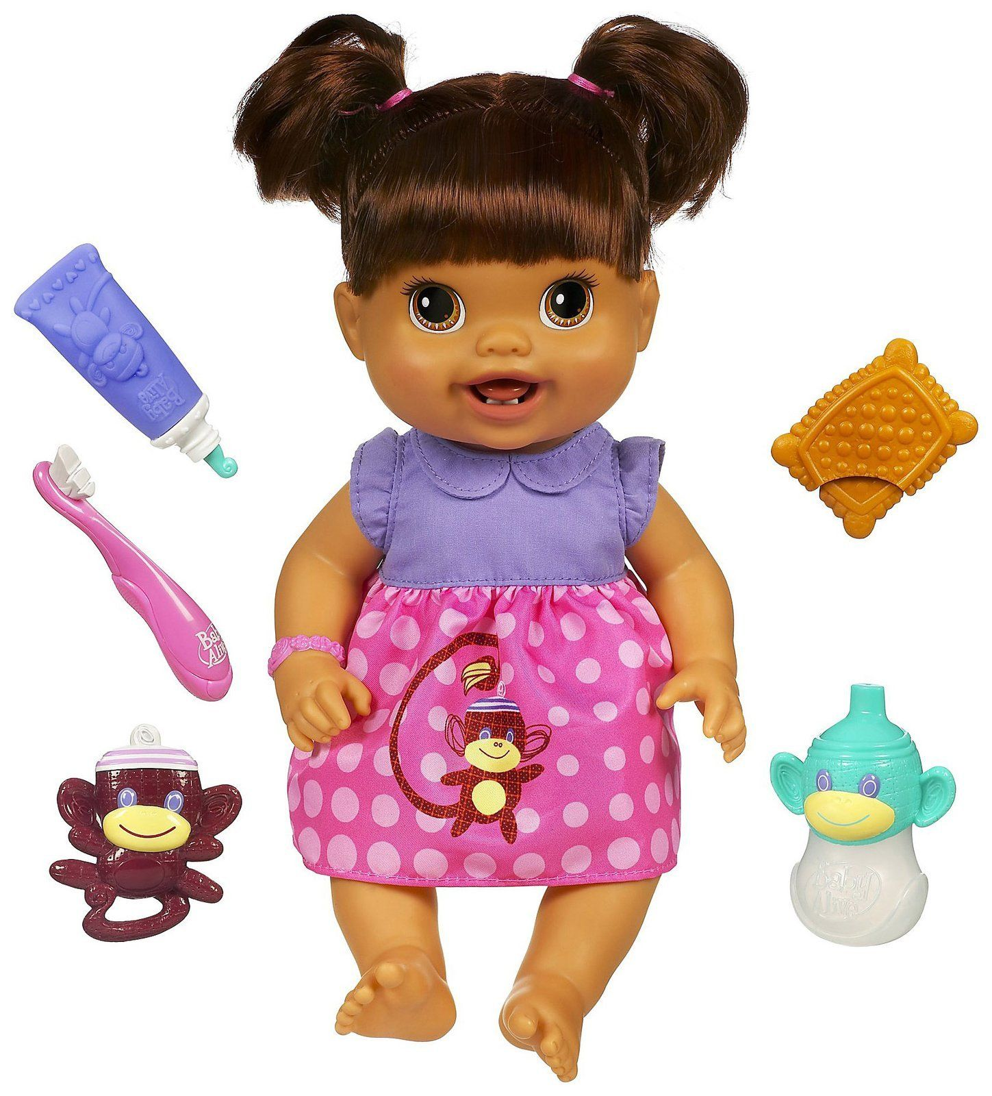 Baby Alive Baby S New Teeth Brunette Styles May Vary