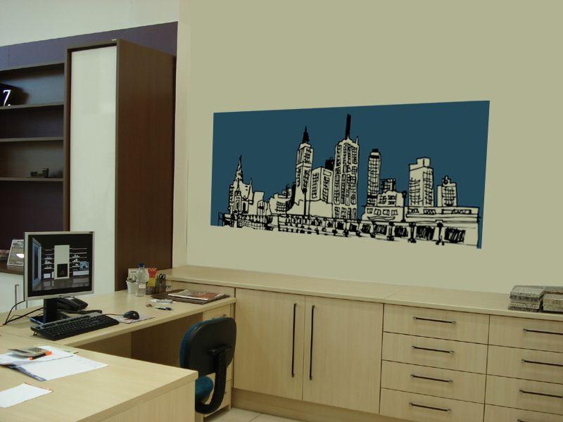Leandro Selister - Adesivo de Parede – Skyline em Desenho - http://leandroselister.com.br/loja/adesivos-de-parede/adesivo-de-parede-skiline/