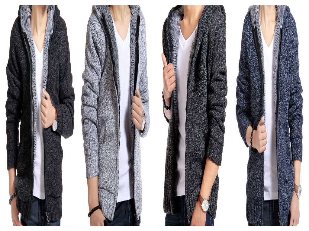 Men Jacket thick velvet cotton hooded fur jacket men's winter padded knitted casual sweater Cardigan coat Spring Outdoors parka!   For more  Inquiries: http://bit.ly/2e0POFV