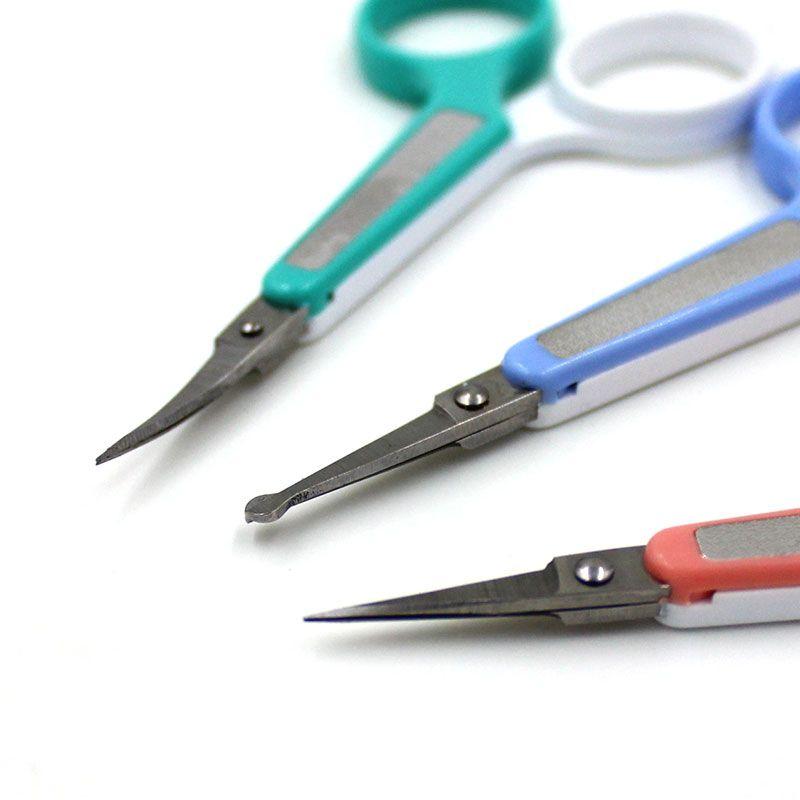 Professional Stainless Steel Eyebrow Eyelash Scissors Straight Bend Save Round Eyelash Extension Trimmer Tool Extension Tools Straight Angle Scissors Price