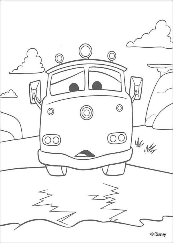 Coloring Page Of The Famous Disney Movie Cars Color Red The Fire