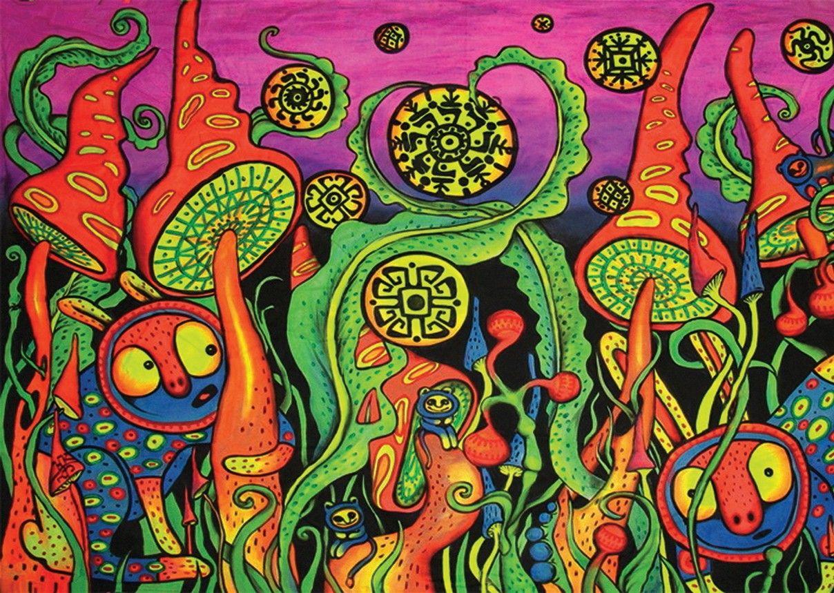 Psychedelic trippy landscape a3 poster print amk1210 ...