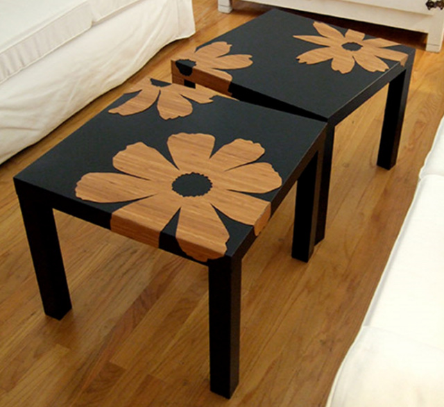diy personnaliser la table basse lack ikea inspirant pinterest customiser table. Black Bedroom Furniture Sets. Home Design Ideas