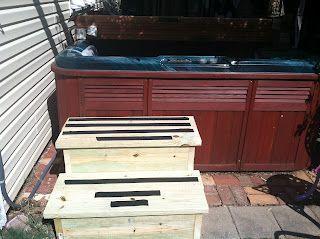 I Made This Hot Tub Steps Hot Tub Deck Soft Tub Hot Tub