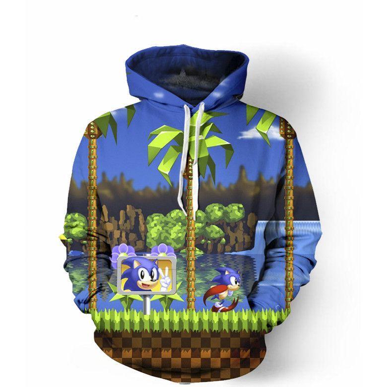 Sonic The Hedgehog Hoodie Hoodies Sonic Sonic The Hedgehog