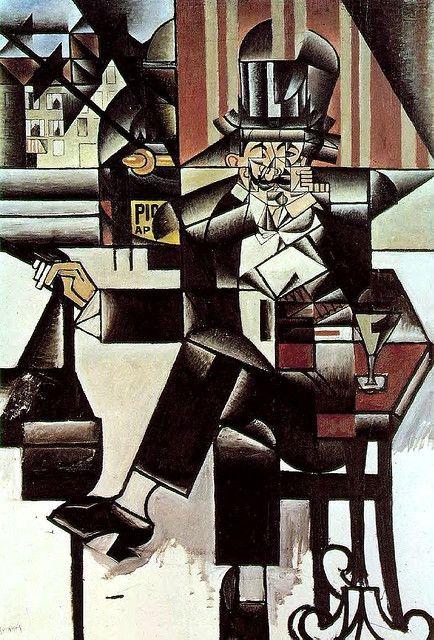 Gris, Juan (1887-1927) - 1912 Man in the Cafe (Philadelphia Museum of Art, USA) by RasMarley, via Flickr