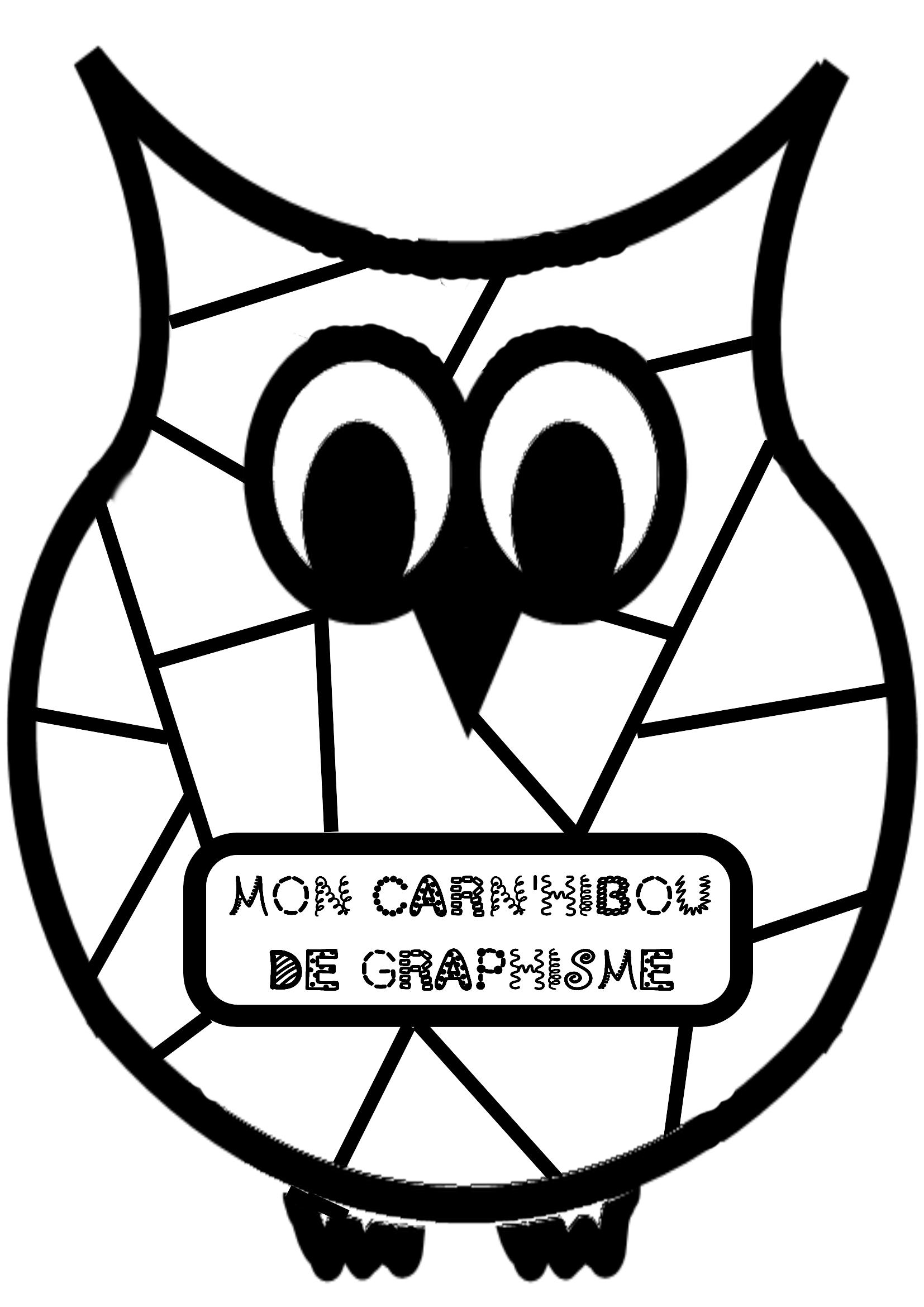 Carn 39 hibou de graphisme la classe de jenny graphisme - Coloriage classe maternelle ...