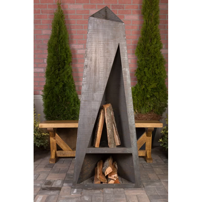Dalkeith Steel Wood Burning Outdoor Fireplace In 2021 Outdoor Fireplace Contemporary Outdoor Fireplaces Outdoor Fire Pit