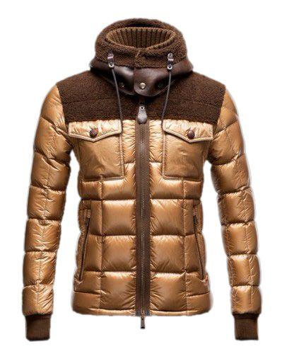 Stylish Moncler Lazare Men Down Jacket Gold [2900332] - £200.69 :