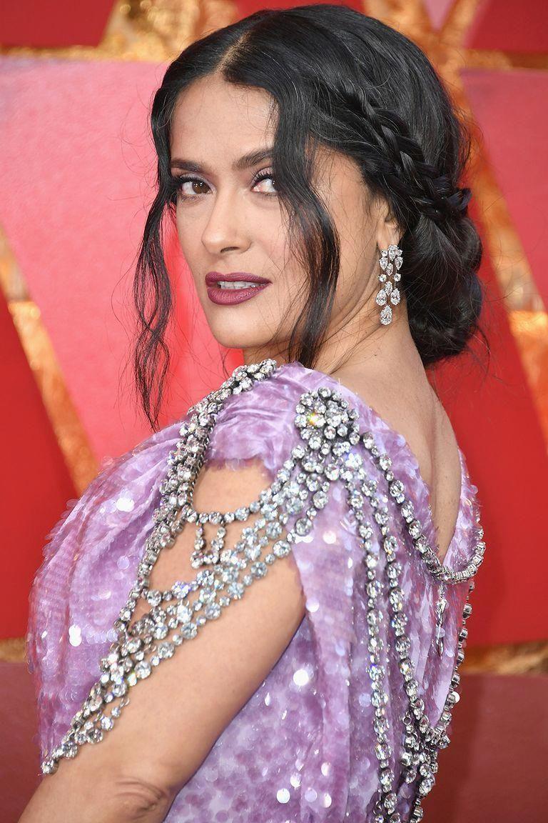 The best jewelry at the oscars salma hayek diamond earrings
