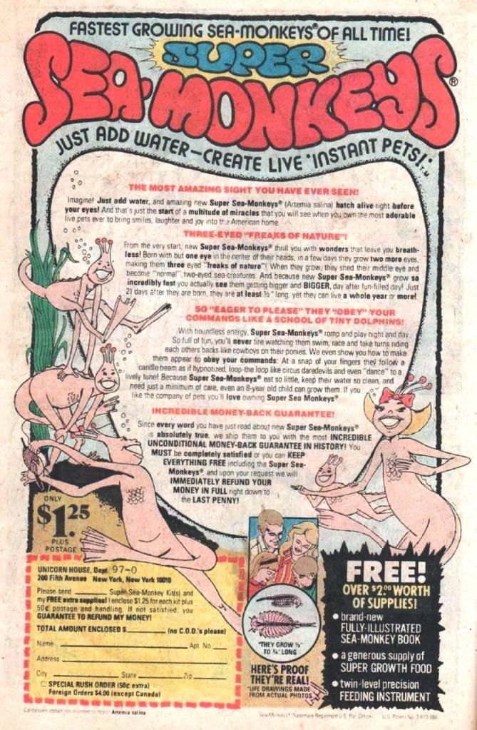 More Wacky Inappropriate 70s Comic Book Advertisements Book Advertising Sea Monkeys My Childhood Memories
