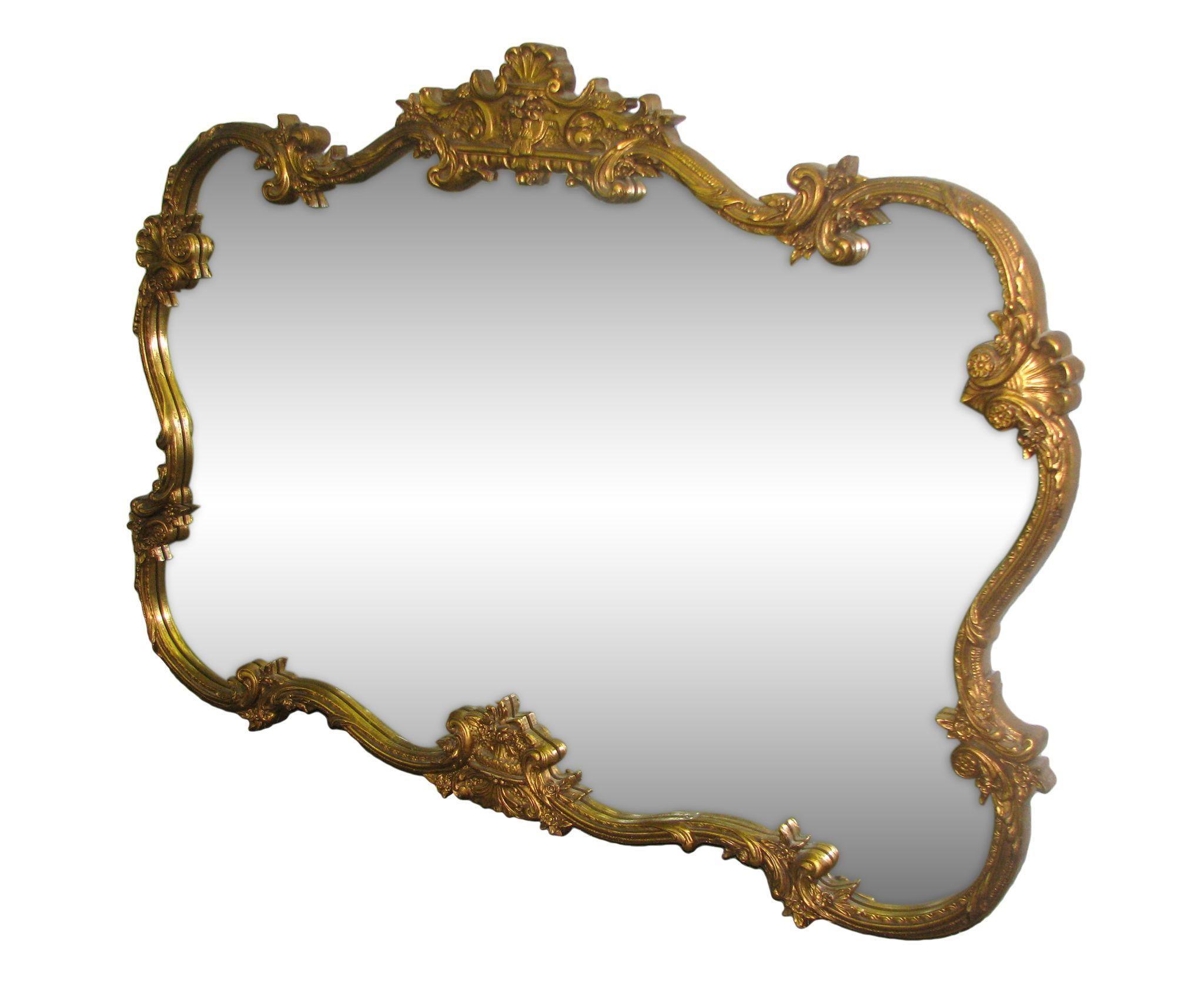 Rococo style gold gesso mirror