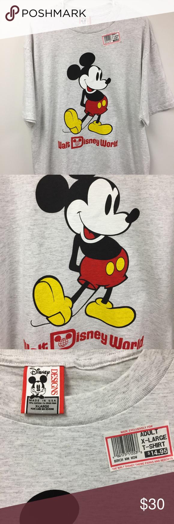 Walt Disney World Vintage 90 S T Shirt Xl Nwt Wdw New With Tag Vintage 90 S Walt Disney World Mickey Mouse T Mickey Mouse T Shirt Disney Designs Disney World