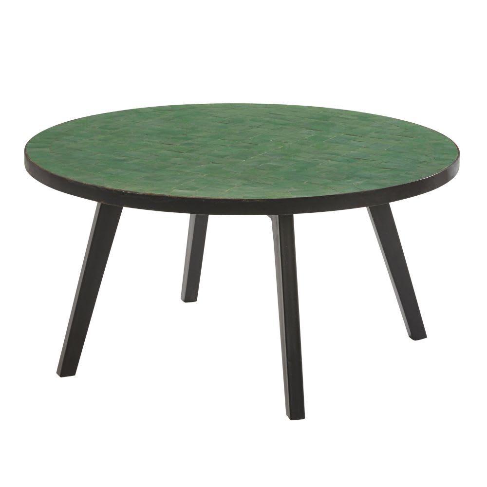 Table Basse De Jardin En Mosaique Verte Avec Images Table Basse Jardin Table Basse Meuble Salle A Manger