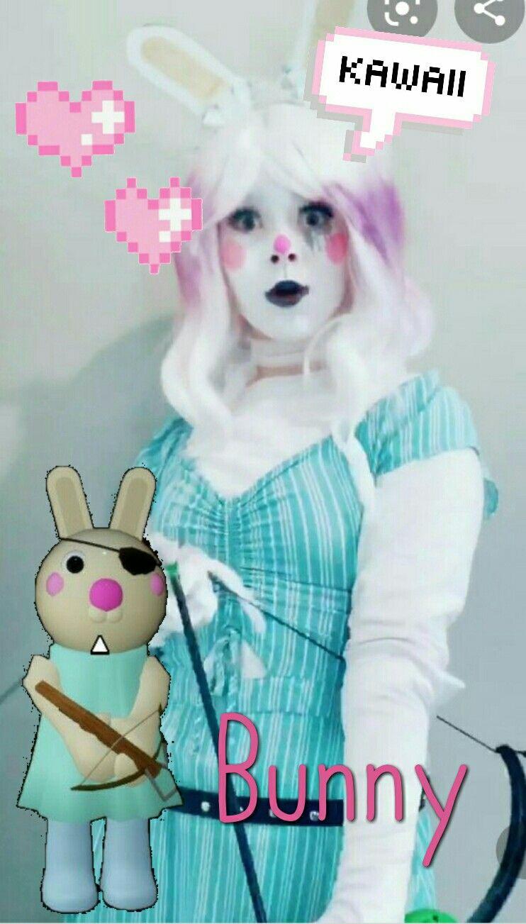 Chiaki Nanami Roblox Cosplay Pin By Zizzy On Piggy In 2020 Piggy Bunny Roblox