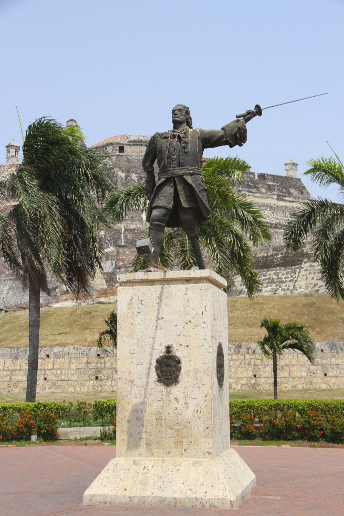 Estatua De Blas De Lezo Cartagena Colombia Cartagena De Indias Cartagena Cartagena Colombia