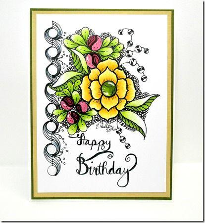 In a world of craft birthday card original art art 2016 handmade in a world of craft birthday card original art m4hsunfo Images
