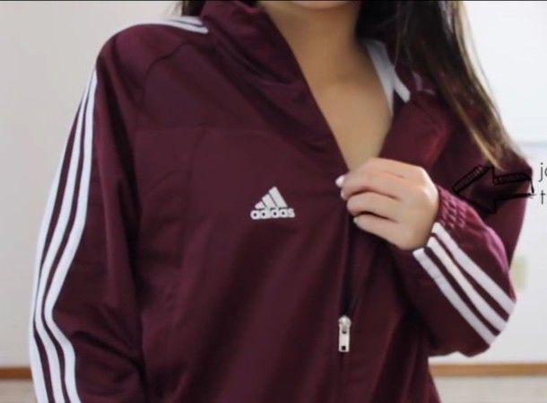 adidas Originals Sweatshirt maroon Damen Jacken,adidas