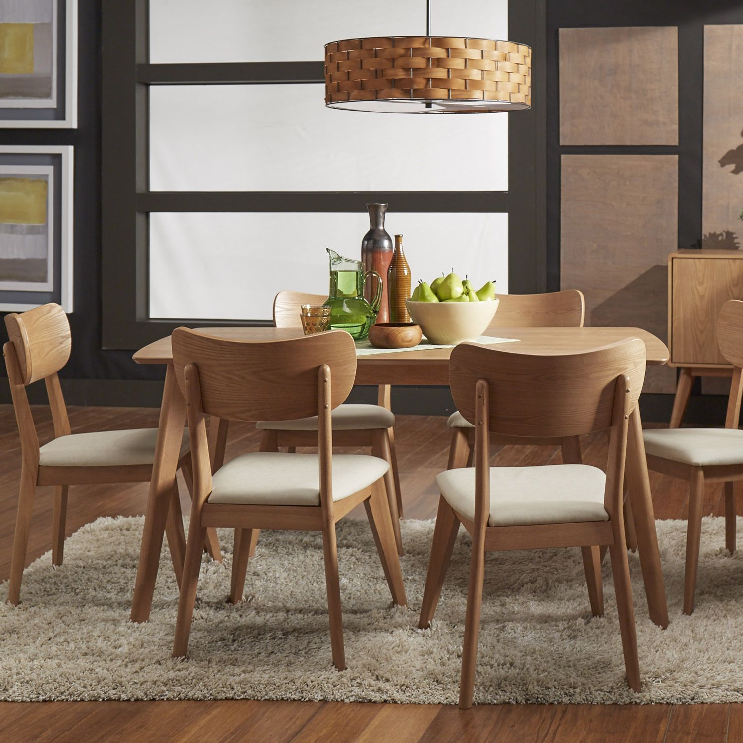 Penelope Danish Modern Natural Oak Dining Set iNSPIRE Q Modern by iNSPIRE Q