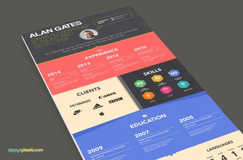colorful cv templates