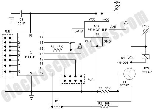 rf receiver schematic diagram electronic pinterest rh pinterest com 5 Channel RF Receiver Window Treatments 433MHz Receiver Schematic