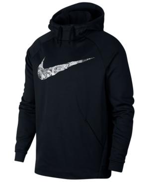 ab8cf338b98d45 Nike Men s Therma Collage-Logo Hoodie - Black S