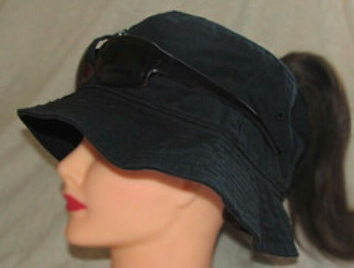 Black Bucket Style Ponytail Access Sunglasses Holder Sunglass Holder Black Bucket Style