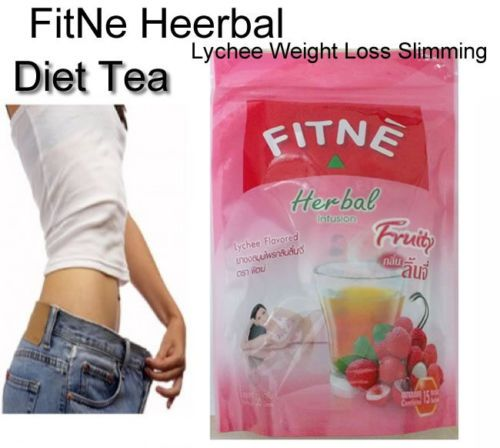 15 BAGS FITNE HERBAL TEA INFUSION SLIMMING DIET WEIGHT LOSS DETOX LYCHEE FLAVOUR.