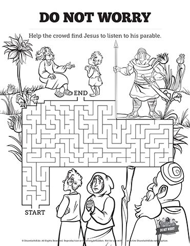 Matthew 6 Do Not Worry Bible Mazes: See if your kids can