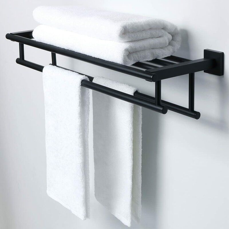 Bathroom Wall Mounted Towel Rack In 2020 Towel Rack Bathrooms Remodel Small Apartment Bathroom