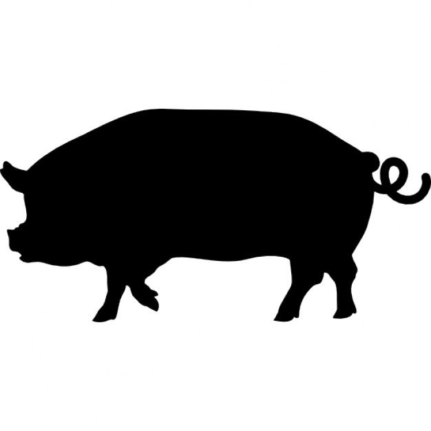 19 637 Free Vector Icons Of Zoo Animals Pig Silhouette Pig Logo Animal Icon