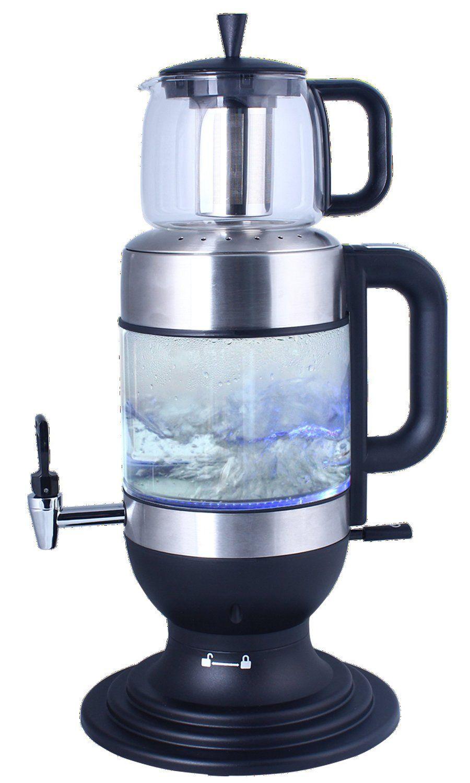 Amazon.com  GOLDA INC. 2.5 Liters Glass Samovar 95b3b6e86d7